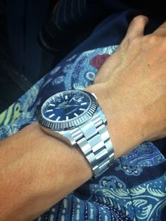 Rolex Datejust II - blue dial, matching with the Indonesian Batik ☺️