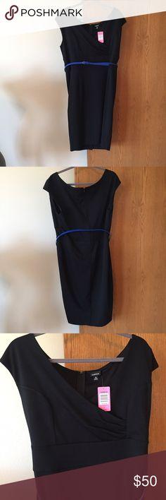 NWT torrid black dress NWT black torrid dress with cute blue belt. Size 14 torrid Dresses Midi