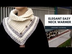 New crochet scarf tutorial neck warmer ideas Crochet Scarf Tutorial, Crochet Poncho, Crochet Scarves, Hand Crochet, Crochet Neck Warmer, Diy Scarf, Single Crochet Stitch, Earring Tutorial, Crochet Videos