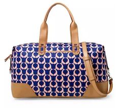 Blue stylish printed luggage