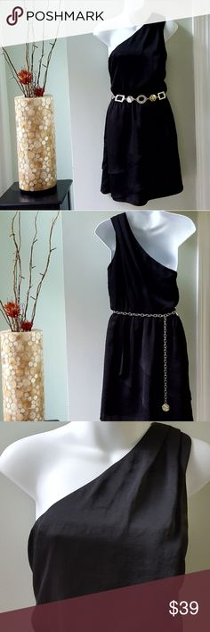 BCBG Generation Dress Beautiful one shoulder dress Black and sexy! Perfect w/your own belt Never worn. Another impulse purchase! Perfect for a homecoming dance.....      ❤From a smoke & pet free home❤ BCBGeneration Dresses
