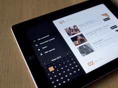 Dribbble - iPad app #3 by Simon Pertz - via http://bit.ly/epinner