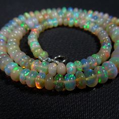 46 cts 16 5 4 6 mm Ethiopian Opal Beads Super Green Red Fire Opal Necklace   eBay