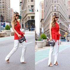 Get this look: http://lb.nu/look/8207633  More looks by Sasa Zoe: http://lb.nu/shallwesasa  Items in this look:  Top, Pants, Only $50 Sunglasses, Bag, Heels   #chic #classic #romantic #cmeocollective #nyc