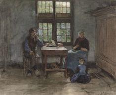Larens binnenhuis - Anton Mauve
