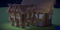 [Build] Medieval styled Tavern/Inn - Minecraft World Minecraft Houses For Girls, Minecraft Houses Blueprints, Minecraft House Designs, Minecraft Creations, Minecraft Cheats, Minecraft Tips, Minecraft Farm, Mine Minecraft, Amazing Minecraft