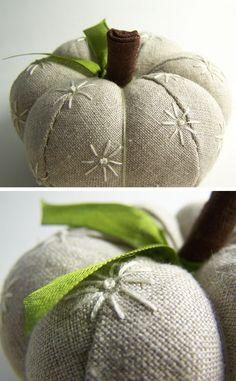 Traditionally Modern Designs: Pumpkin Pincushion