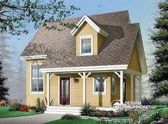 Maison 2 étages très économique offrant 2 chambres, espace ouvert, foyer & galerie couverte !   http://www.dessinsdrummond.com/detail-plan-de-maison/info/1001976.html