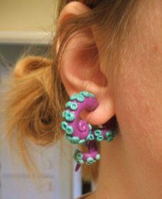 Tentacle plugs! I reallyyy need to gauge my ears now :)