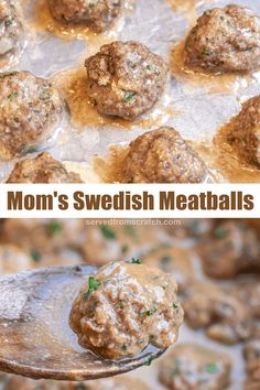 My Mom's Swedish Meatballs is a tried and true family recipe that's easy to make but has all of the flavors that bring you back to your childhood. #swedishmeatballs #sauce #easy #recipe #mom's Ground Lamb Recipes, Food Dishes, Main Dishes, Garlic Kale, Meatball Bake, Spinach Stuffed Mushrooms, Bread Crumbs