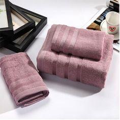 3pcs towel 3 color 100% Bamboo Fiber bath beach face towel sets for adults 34cm*75cm*2p 70cm*140cm*1p cotton  bathroom  towel