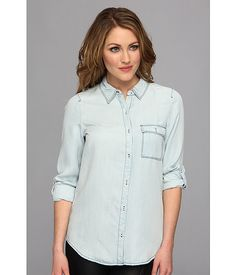 Soft Joie Soft Joie  Onyx  Indigo Womens Sleeve Button Up for 100.99 at Im in! #sale #fashion #I'mIn