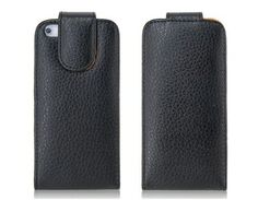 iPhone 5 flip case / hoesje, zwart / black Iphone 5 Cases, Black, Black People
