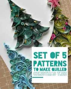 Paper Quilling For Beginners, Paper Quilling Tutorial, Paper Quilling Designs, Quilling Instructions, Free Quilling Patterns, Art Patterns, Paper Patterns, Christmas Crafts For Gifts, Christmas Ornaments