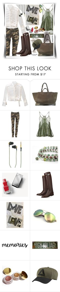 """""""military style"""" by hannah353 ❤ liked on Polyvore featuring Sacai, Corto Moltedo, STELLA McCARTNEY, Kreafunk, Burberry, Kylie Cosmetics and Reebok"""