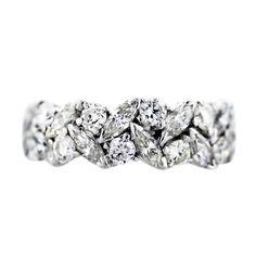 .5 carat marquis diamond   carat Platinum Marquise and Round Diamond Eternity Band Ring ...