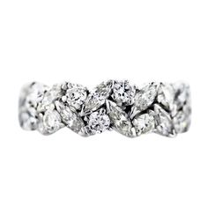 .5 carat marquis diamond | carat Platinum Marquise and Round Diamond Eternity Band Ring ...
