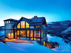 A contemporary mountain retreat in Avon, Colorado. PHOTO BY Gibeon Photography