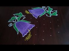 Small Rangoli Design, Beautiful Rangoli Designs, Kolam Designs, Simple Flowers, Beautiful Flowers, New Year Rangoli, Rangoli Colours, Latest Rangoli, Diwali Craft