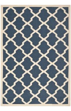 $5 Off when you share! Safavieh Courtyard CY6903 Navy Beige Rug | Contemporary Rugs #RugsUSA