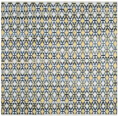 Safavieh MTK123B Montauk Flat Weave Gold Multicolor Area Rug