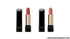 Lancome L'Absolu Rouge Lipstick in Rose Peau Nue and Rose De Ville