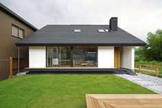 This small Japanese bungalow, designed Space Architecture, is elegantly minimal and showcases strong Japanese minimalist interior design ideas. Plans Architecture, Residential Architecture, Architecture Design, Japanese Architecture, Japanese Buildings, Build Your Own House, Minimal Home, Storey Homes, Japanese House
