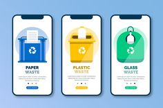 Recycle onboarding app screens set Free ...   Free Vector #Freepik #freevector #technology #phone #social-media #mobile Interface Design, Ui Design, Layout Design, Graphic Design, Social Media Apps, Social Media Design, Onboarding App, App Design Inspiration, Vector Free