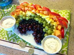 Best Fruit Dip EVER... 1 8oz pkg Cream Cheese- softened, 1 7oz jar Marshmallow Cream, 1 Cup powdered sugar.  Mix together!
