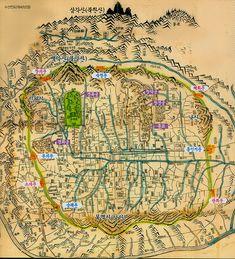 조선시대 한양 지도 Old Map of Hanyang (Seoul)