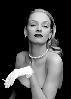 Smoke, Smoking, Beauty, Lady, Chic, Women, Woman smokes, Uma Thurman