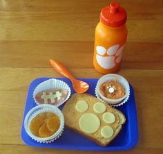 Clemson themed lunchwould be perfect to serve kids!