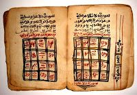 Manuscript Specs Item : Antique Africa Magical Amulet / Talisman / Gris-gris Content : A complete amulet based on a complete Quran Dim : x x Date : century Copyist : anonymous Origin : Africa Calligraphy : Sudani Design : Magical Square with numbers Complete Quran, Magic Squares, Handmade Books, Old Antiques, Antique Books, Writing A Book, Astrology, Book Art, Verses