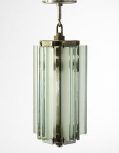 Pietro Chiesa - Ceiling lamp. Brass and crystal.