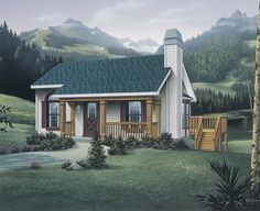 Cottage Home Plans - Small Cottage Style House Plans Cottage House Designs, Small Cottage House Plans, Small Cottage Homes, Cabin House Plans, Cottage Floor Plans, Cottage Plan, Country Style House Plans, Cottage Style Homes, House Floor Plans