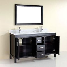 "Corniche 60"" Espresso Double Sink Vanity By Studio Bathe"