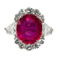 Ruby And Diamond Platinum Ring by Wayne Smith