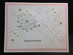 My Creative Corner!: A Flourish Thinlits and Teeny Tiny Wishes Anniversary Card - Needs bigger sentiment