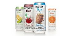 Honest Tea came out with a new product, organic zero calorie sodas known as Honest Fizz. The design leverages their brand equities by using clean white space and whimsical illustrations of the flavors, making their sodas a fun and healthy experience.  Designed by: Alexandra Rubin, USA.