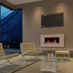 Escea Indoor Gas Suede Cream Fireplace