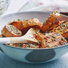 Gegrillte Süßkartoffeln