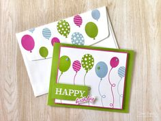 Happy Birthday - So Much Happiness bundle - Stampin' Up! - Fiona Bradley - handmade card Birthday Cards, Happy Birthday, My Crazy, Stampin Up Cards, Finding Yourself, Card Making, Invitations, Messages, Happiness