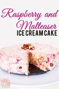 Raspberry & Malteser Ice Cream Cake Recipe