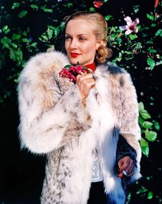 """oldhollywoodpicturebook: """" Lovely color photo of Carole Lombard from the 1930′s """""""