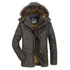 66.24$ Watch here - http://alirzf.worldwells.pw/go.php?t=32756621785 - MEBOSYA 2016 Autumn Winter Down & Parkas Cargo Fleece Thicken Jackets Coats Men Casual Cotton Hooded Plus Size Jackets