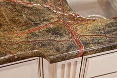 Rainforest Green Granite Kitchen