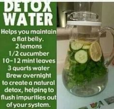Detox water while waist training