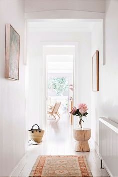 Inside The Beauty Chef's stunning Bondi home is part of diy-home-decor - Carla Oates, the founder of The Beauty Chef, has let us inside her jawdropping Bondi home, which she renovated with her husband in 2013 Interior Design Inspiration, Home Decor Inspiration, Hallway Inspiration, Decor Ideas, Hallway Ideas, Cheap Home Decor, Diy Home Decor, Decoration Hall, Objet Deco Design