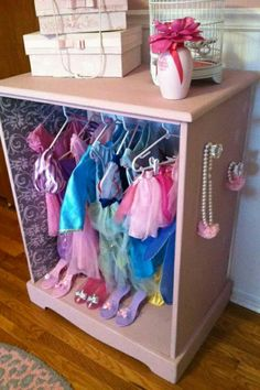 Adorable Dress Up Closet From An Old Dresser! I Feel Some More DIY Coming  On : )