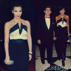 Kris Jenner and Kim Kardashian in Vintage Valentino Dress